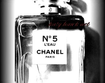 Chanel No. 5 L'Eau Black and White Photography