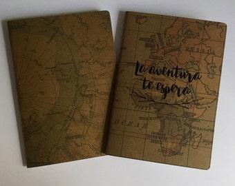 Kraft design map vintage A6 notebooks