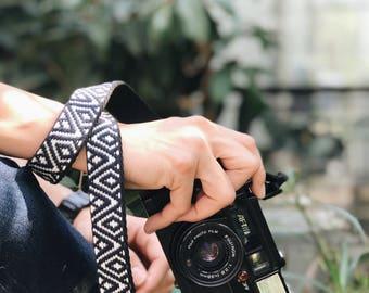 Black Boho Style - Camera Strap