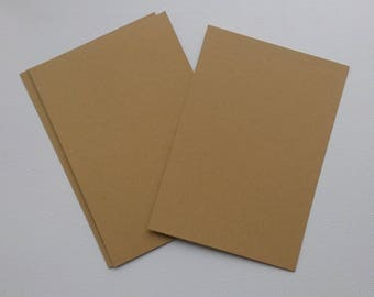 Set of 8 simple 15 kraft paper cards x 10.5 cm