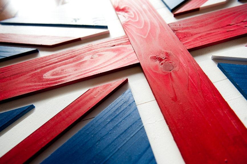 Union Jack Wood Flag UK Wooden