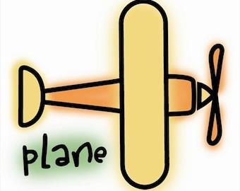 Plane - Imaginisce - Rubber Acrylic Stamp