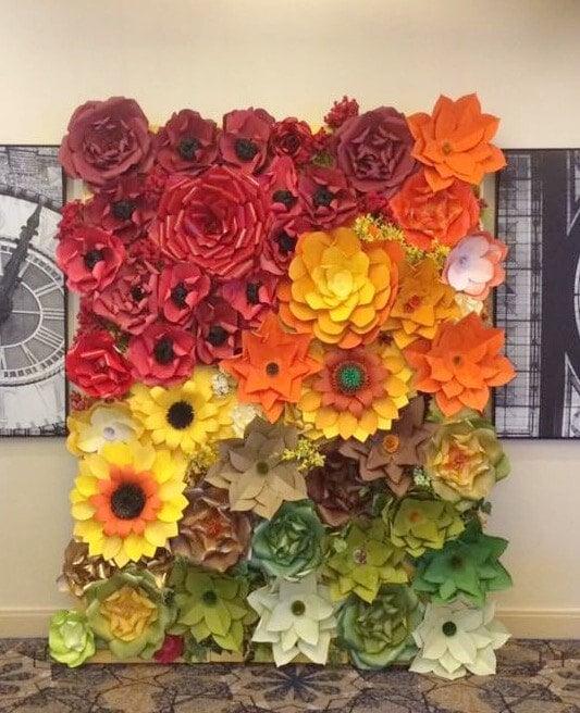 Paper Flower Backdrop / Giant Paper Flowers Wall / Paper Flower Wall ...