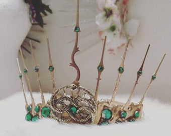 Emerald Serpent Tiara