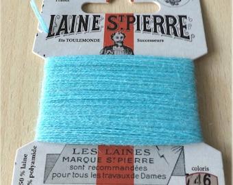 St. Pierre 746 turquoise wool yarn