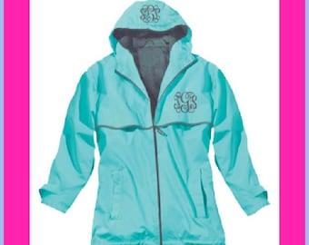 FREE MONOGRAMMING,Monogrammed Rain Jacket,Monogrammed Rain Coat,Personalized Rain Jacket,Personalized Rain Coat,Charles River Rain Coat-RJ01