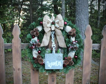 Welcome Christmas Wreath