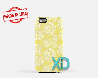 Yellow Spring Phone Case, Yellow Spring iPhone Case, Floral iPhone 7 Case, White, Floral iPhone 8 Case, Yellow Spring Tough Case, Clear Case