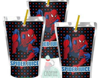 Spider Man Juice Pouch *INSTANT DOWNLOAD*