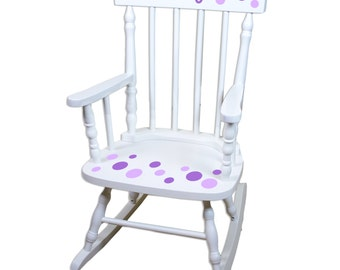 Quick View. More Colors. Custom Childs Rocking Chair Polka Dot Hand Painted  ...