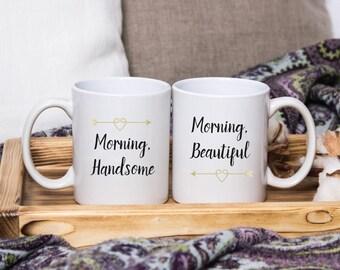 Hello handsome good morning gorgeous mug, Good Morning Beautiful Mug, Good Morning Handsome Mug, Good Morning Mug, Hello beautiful mug