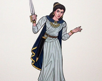 Artemisia Queen of Caria Articulated Paper Doll, Ancient Greece