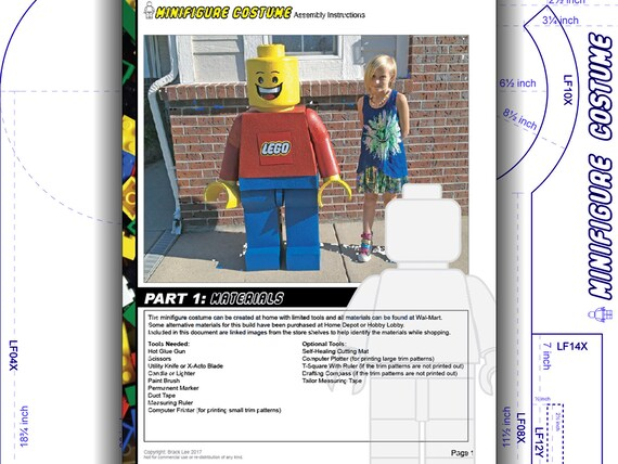 Tutorial: LEGO Child Costume Minifigure. DIY patterns and