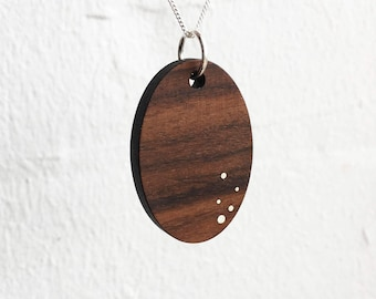 Wood Necklace - 5 Anniversary Gift - Women's Wood Jewelry - Wood Gift for Her - 5 Year Anniversary Gift - 5th Anniversary Wood Gift