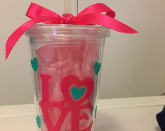 Tumbler cups for Valentines