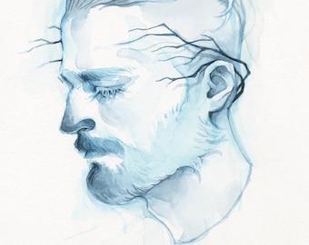 Watercolor Giclee PRINT -  5x7