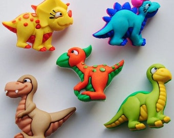 DINO-MITE - Cute Baby Dinosaur Children Animal Novelty Dress It Up Craft Buttons