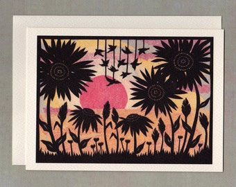 As The Day Ends - Greeting Card