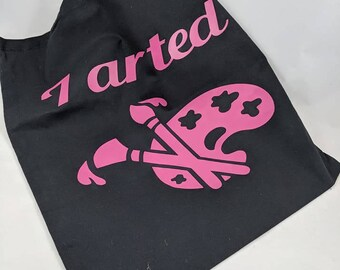 I Arted Cotton Tote Re-Usable Shopping Bag Purse