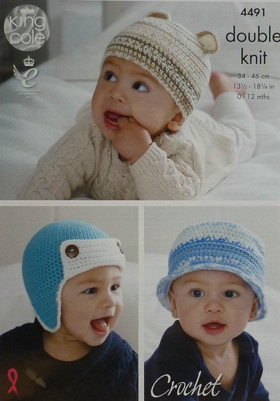 Baby Crochet Pattern C4491 Crochet Pattern Babies Sunhat, Trapper ...
