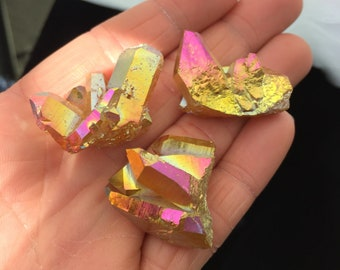 ONE* Sunset Aura Quartz Crystal Cluster