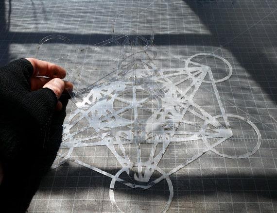 Metatron's Cube Stencil - Sacred Geometry