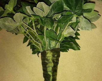 Silk greenery bouquet