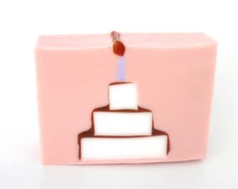 Birthday Cake Soap - Soap gift party favor - Handmade favor soap bar- children birthday bath soap - decorative soap - gift for teenage girl