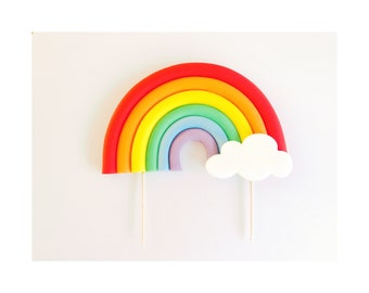 Rainbow Cake Topper. Large cakes.