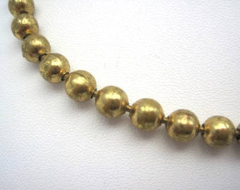 Vintage Necklace - Gold Bead Chain