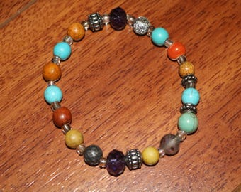 Mixed Color Beaded Bracelet