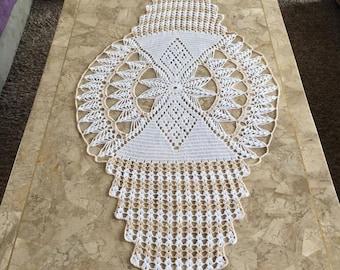 Crochet Lace Table Runner