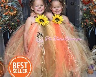 Scarecrow Costume, Girls Halloween Tutu, Kids Spooky Costume, Fall tutu dress, Scarecrow Tutu Dress, The Tutu Boutique, Trick or Treat