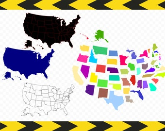 USA map SVG files for cricut  silhouette United states map 50 states