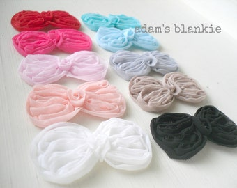 Petite Bow Hair Clips - Alligator Style - You Choose THREE - Aqua, Blue, Cream, Gray, Khaki, Pink, Hot Pink - Newborn Baby Girls