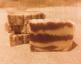 Cedar Sandalwood Goat Milk Soap | Natural Soap | Goat Milk Soap | Handcrafted with Essential Oils | Cold Process Soap