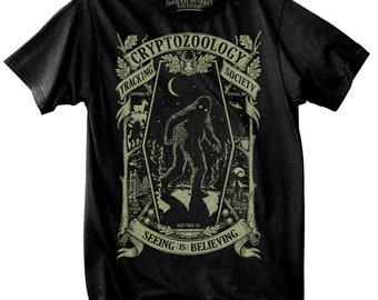 Glow in the Dark Cryptozoology Tracking Society Black/Moon (Gents)