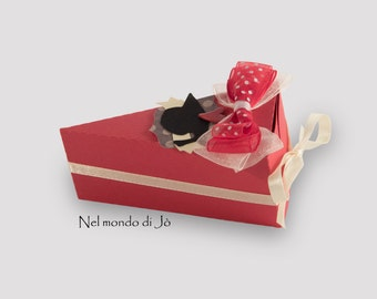 "Favor box ""Cake 3"""