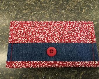 Fabric checkbook cover
