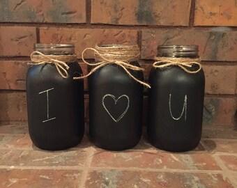Chalkboard Mason Jars (Set of 3)