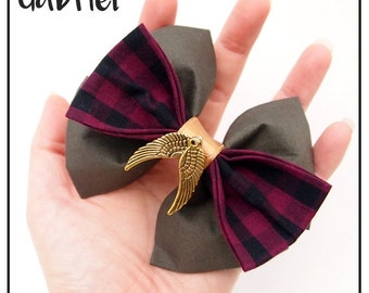 Gabriel Inspired Hair Bow / Bow Tie (Double / Single) (Supernatural)