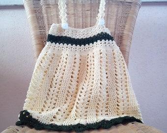Crochet summer dress Pattern 502 Yellow dress pattern baby girl crochet sundress pattern size up toddler  jumper or sundress girl's dress