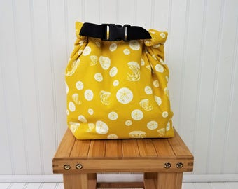Insulated Lunch Bag - Organic Lunch Tote - Lunch Bag for Women - Insulated Lunch Bag for Women - Large Lunch Bag - Sand Dollar Lunch Bag