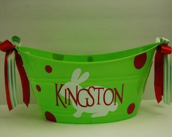 Easter gift baskets Personalized Monogrammed Easter Basket Tub