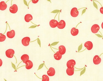 FARMHOUSE  - Vintage Cherries Natural - One Half Yard - by Fig Tree & Co.- 20251-14