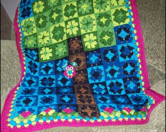 Granny Square - Photo Tutorial - Granny Tree of Love - CROCHET PATTERN
