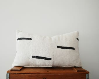 THE NAPA 18x10 African Mud Cloth Lumbar Pillow Cover