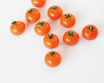 simulation fruit vegetable orange model charms DIY jewelry findings