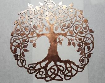 Celtic Tree of Life - Solid Copper - Metal Art - Copper Metal Art COT36