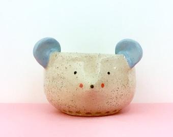 face planter/face pot/face plant pot/face plantpot/face vase/face vessel/animal pot/animal planter/unique gift/head pot/mouse pot